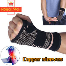 1PC Copper Wrist Hand Brace Support Fit Carpal Tunnel Splint Sprain Arthritis UK