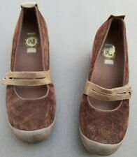Merrell Suede Maryjanes Shoes 9 B Plaza Bandeau MJ Leather