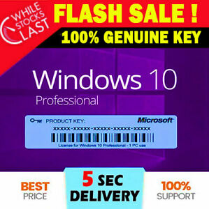 🔥✅Win 10 Pro Professional License Key 32/64bit 🔥✅INSTANT DELIVERY