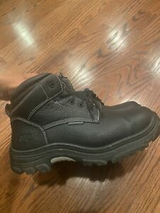 SKECHERS WORK Leather Steel Toe Electrical & Slip Hazard Safe Boots, Med & Wide
