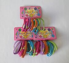 3 Pack Colorful Elastic Hair Band Ponytail Holder Hair Ties For Girls.