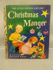 Christmas Manger The Little Golden Cut-Out  Book 1953 Nostalgic 50's