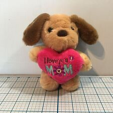 """New DAN DEE DANDEE """" I Love You Mom"""" Plush Puppy Dog - Mother's Day - Gifts"""