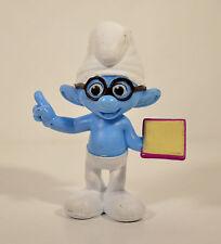 "2013 Brainy Smurf w/ Book 3"" McDonald's Happy Meal #5 PVC Action Figure Smurfs"