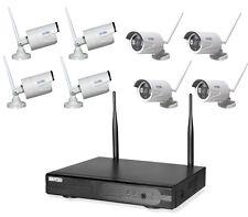 8 KANAL WLAN HD Überwachungsset Videoüberwachung FUNK IP Netzwerkkamera Kamera