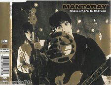MANTARAY Know Where To Find You CD Single