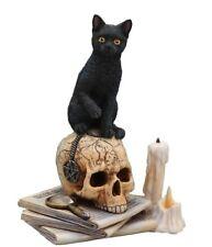 "New Listing6.5"" Spirits of Salem Statue By Lisa Parker Black Cat Skull Magick"