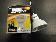 6 x Energizer GU10 LED 5.7W (50W) 3000K 345lm Dimmable Bulbs Warm White