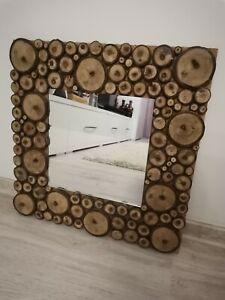 Wood Slice Mirror, Rustic Mirror, Walnut Wood Mirror, Cabin Mirror, Log Mirror