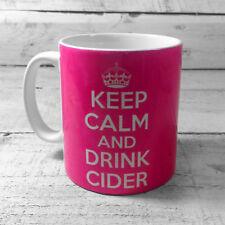 KEEP CALM AND DRINK CIDER MUG CIDER DRINKER GIFTS IDEAS GLASS PRESENTS FAN