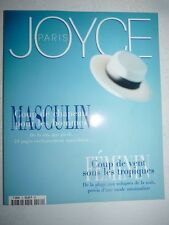 Magazine Revue de mode JOYCE PARIS #70 mai 1998 masculin féminin