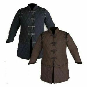 Medieval Thick Padded Gambeson costumes suit of armor Larp Sca