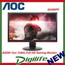"AOC AGON G2460PF 24"" 1ms 144Hz Full HD FreeSync Gaming Monitor HDMI/DP/DVI/VGA"