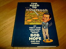 BOB HOPE-THE ROAD TO HOLLYWOOD-1ST-1977-HB-VG-SIGNED-W H ALLEN-RARE