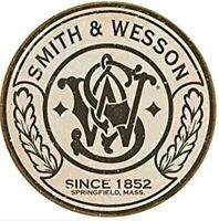 SMITH AND WESSON ROUND TIN SIGN - GUN AND AMMO POSTER - WALL ART DECOR