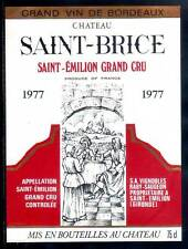 Étiquette  Château SAINT-BRICE. 1977. SAINT-EMILION Grand Cru