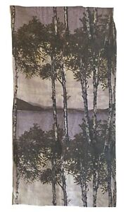 Beautiful 20th Cent scenic printed linen panel fabric 5607
