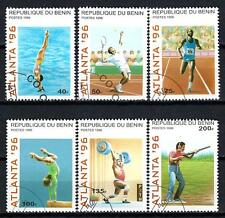 JO été Bénin (56) série complète de 6 timbres oblitérés