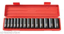 """1/2"""" Drive Deep Impact Socket Set METRIC 12 pt (11-32mm) Cr-V TEKTON"""