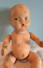 """Vintage Compostion 8"""" Baby Doll Molded Hair Painted Blue Eyes"""