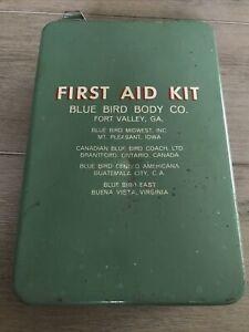 vintage first aid kit metal