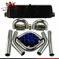 "Universal DIY 2.5"" Aluminum Piping Hose Clamps + 550x180x64 FMIC Intercooler Kit"