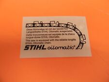 STIHL CHAINSAW SIDE COVER DECAL  009 010 015 031 032 028 038 045 056 075 MORE