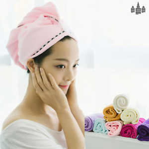 Fast Rapid Drying Hair Towel Absorbent Wrap Shower Bath Cap Hat -Free Shipping