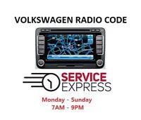RNS510 Radio Code VW Radio Unlock Decode Service VWZ6Z7, VWZ1Z7 etc.. Very Fast