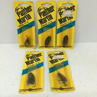 Lot of 3 Panther Martin Spinners 4PMD G 1//8 Oz New Old Stock Genuine Gold Plated