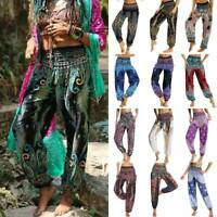 Women Loose Yoga Trousers Baggy Boho Aladdin Jumpsuit Thai Hippy Harem Pants