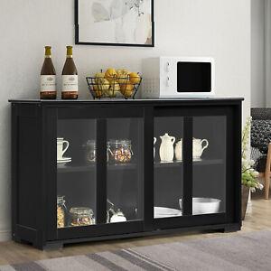 Kitchen Storage Sideboard Dining Buffet Server Cabinet Cupboard W/ Sliding Door