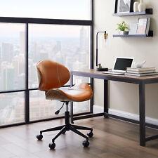 Pu Leather Armless Bentwood Office Chair Executive Task Ergonomic Computer Desk