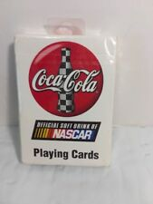COCA-COLA OFFICIAL SOFT DRINK OF NASCAR SEALED PLAYING CARDS