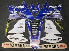 Yamaha YZ125 YZ250 2015-2017 Jeremy McGrath Mazda graphics + plastic set GR1539