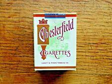 Paquet de cigarettes CHESTERFIELD  factice 5.5x7.2 cm collection vintage a voir