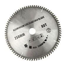 250mm x 30mm TCT la lame de scie 80T / scie circulaire en aluminium réducteur