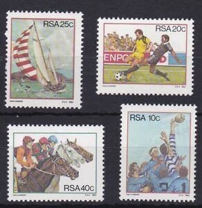 RSA1090) RSA 1983 Sport in South Africa set of 4 lightly hinged, 1984 South Afri