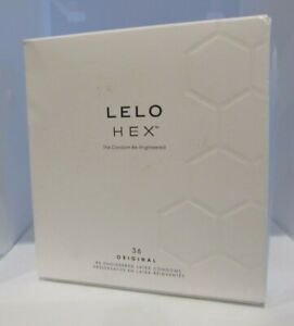 LELO HEX Original Luxury Condoms with Unique Hexagonal Structure 36 Pc  01/2025