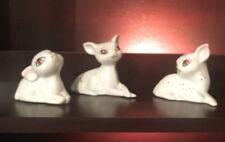 Cute vintage white & gold deer Fawn porcelain figurines