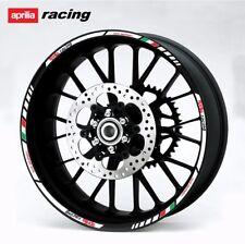 Aprilia Racing wheel decals stickers set rim stripes RSV rsv4 Tuono RS Laminated