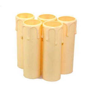 Thermoplastic Candle Drip Lampholder Cover Cream 27mm x 90mm PACK OF 5