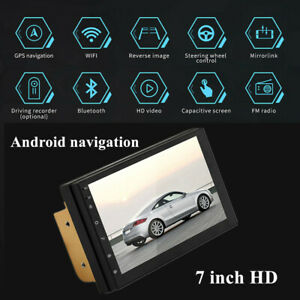 "12V 60W 7"" Touch Android 8.1 Car Stereo MP5 Player GPS Navi WiFi BT Radio 1G+16G"