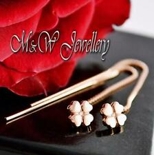 925 Sterling Silver Rose Gold Plated Earrings Threader CLOVER