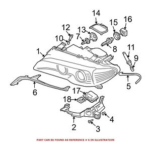 For BMW Genuine Headlight Molding Front Right 63126934752