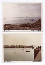 Lot 2 PHOTOS ANCIENNES COULEUR Quiberon 1967 Port Bateau Mer Rochers Bretagne
