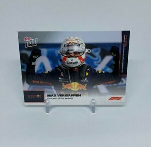 2021 Topps NOW Formula 1 F1 Max Verstappen #4 First Win of the Season