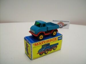 Matchbox 1-75, Nr.49, Unimog 406, 1963, blue/red (Made in England) 1:68