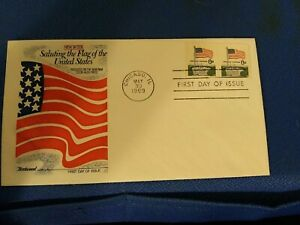 Scott #1338a 6 Cent Coil Stamps Saluting The Flag First Day Issue