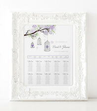 A3 Pretty Birdcage Wedding Seating / Table plan (A2 available)